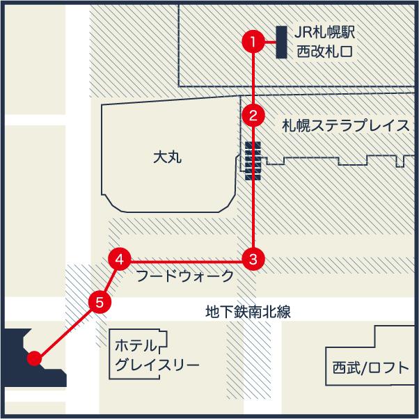 札幌駅周辺マップ